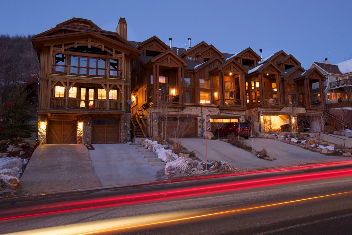 Deer Valley drive alpine village