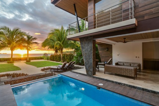 Private swimming pool at the Equity Residences villa in Costa Rica