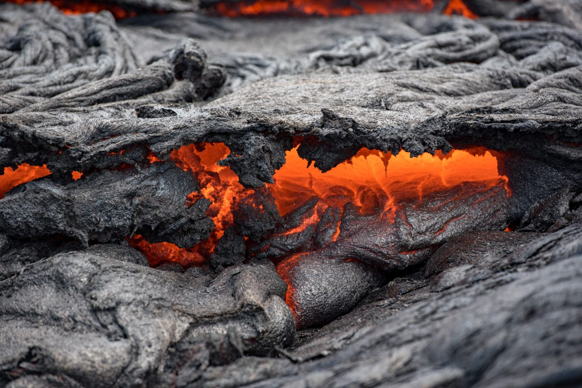 Hawaii Big Island lava flow