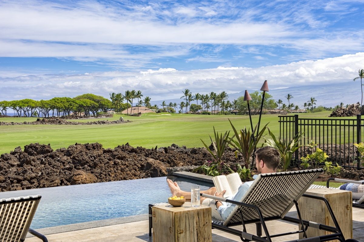 Equity Residences Mauna Lani house overlooks Francis H I'i Brown golf course